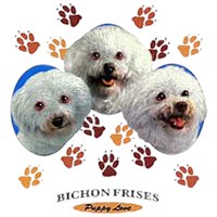 Bichon Frise T-Shirt - Puppies and Paws