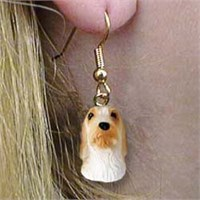 8957 Jewelry   Earrings: Basset Griffon