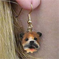 Bulldog Authentic Earrings