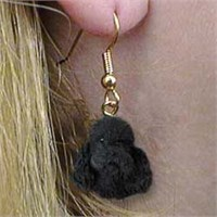 Black Poodle Earrings