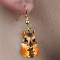 Chipmunk Authentic Earrings