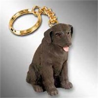 Chocolate Lab Keychain