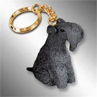 Kerry Blue Terrier Keychain