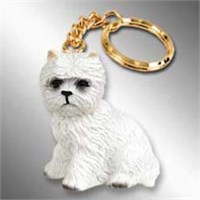 West Highland Terrier Keychain