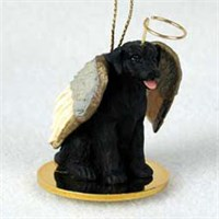 Black Lab Christmas Ornament Angel