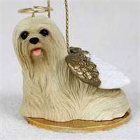 Lhasa Apso Christmas Ornament Angel
