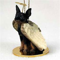 Miniature Pinscher Christmas Ornament Angel