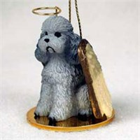 Poodle Christmas Ornament Angel