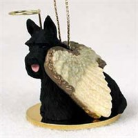 Scottish Terrier Christmas Ornament Angel
