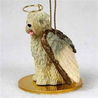 Wheaten Terrier Christmas Ornament Angel