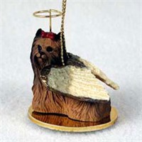 Yorkie Christmas Ornament Angel