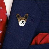 Basenji Pin Hand Painted Resin