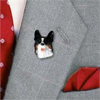 Cardigan Corgi Pin Hand Painted Resin