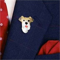 9681 Wire Fox Terrier Pin