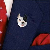Pit Bull Terrier Lapel Pin Hand Painted Resin