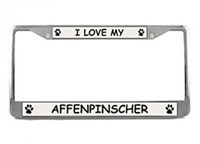 Affenpinscher License Plate Frame