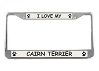 9835 Cairn Terrier License Plate Frame