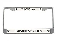 Japanese Chin License Plate Frame