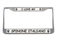 Spinone Italiano License Plate Frame