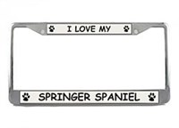 Springer Spaniel License Plate Frame