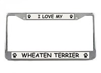 Wheaten Terrier License Plate Frame