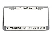 Yorkshire Terrier License Plate Frame