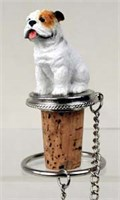 Bulldog Bottle Stopper (White)