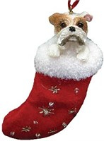 Bulldog Christmas Ornament Stocking