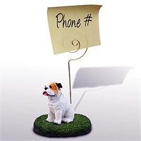 Bulldog Note Holder (White)