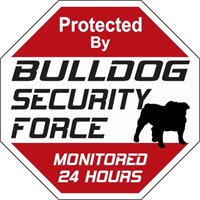 Bulldog Security Force Sign
