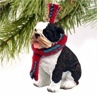 Bulldog Christmas Ornament Brindle