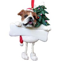 Bulldog Christmas Ornament Tree Personalized
