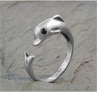 Image of Adjustable Wrap Dolphin Ring