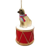 Afghan Hound Little Drummer Christmas Ornament