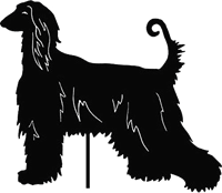 Image of Afghan Hound Garden Stake