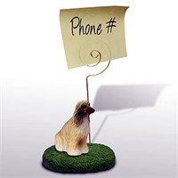 Afghan Hound Note Holder Tan & White