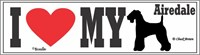 Airedale Terrier Bumper Sticker I Love My