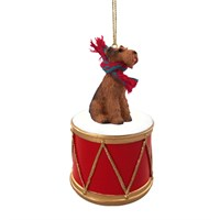 Airedale Terrier Little Drummer Christmas Ornament