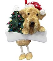 Airedale Terrier Christmas Tree Ornament Personalized