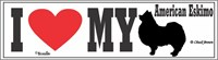 American Eskimo Dog I Love My Bumper Sticker