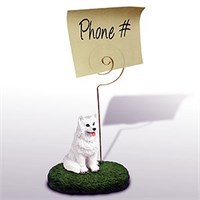 American Eskimo Dog Note Holder