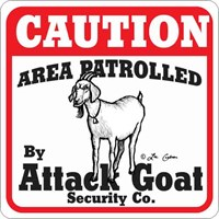 Goat Attack Sign