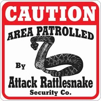 Rattlesnake Attack Sign