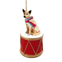 Australian Cattle Dog Little Drummer Christmas Ornament