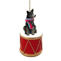 Australian Cattle Dog Blue Little Drummer Christmas Ornament
