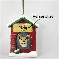 Australian Cattle Dog Personalized Dog House Christmas Ornament