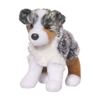 Australian Shepherd Plush Stuffed Animal 8 Inch