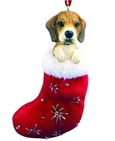 Beagle Christmas Ornament Stocking