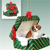 Beagle Christmas Ornament Gift Box