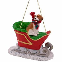 Beagle Christmas Ornament Sleigh Ride